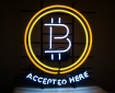 Bitcoin accepted here sign by Cryptocables