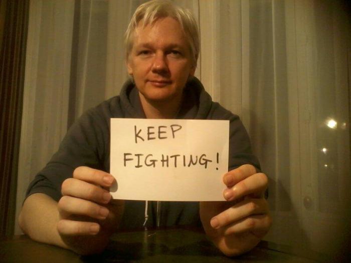 Julian Assange sez Keep Fighting