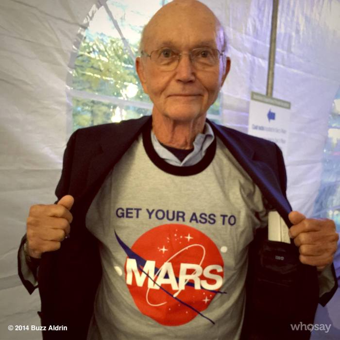 Michael Collins wear a Buzz Aldrin tee