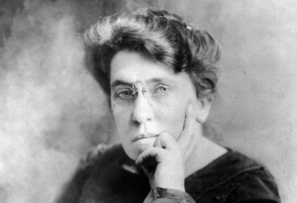 Emma Goldman has no fucks to give. She gave them to a pair of Wobblies she met at the protest...