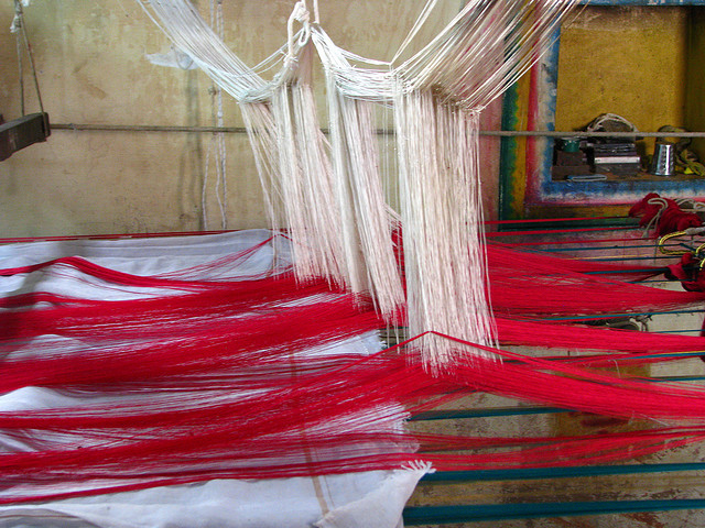 sari weaving by McKay Savage on Flickr