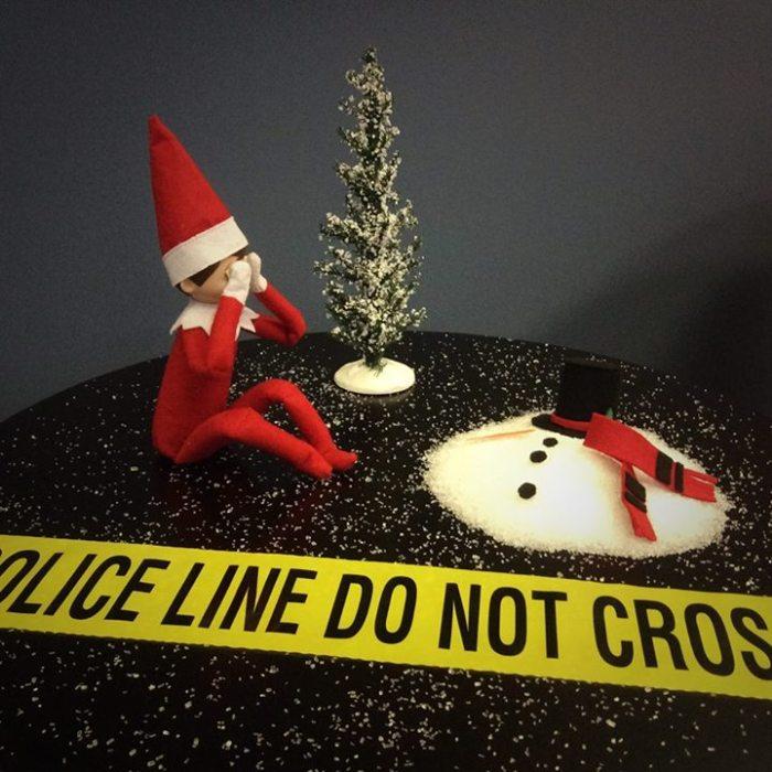 Elf on shelf on cross examination