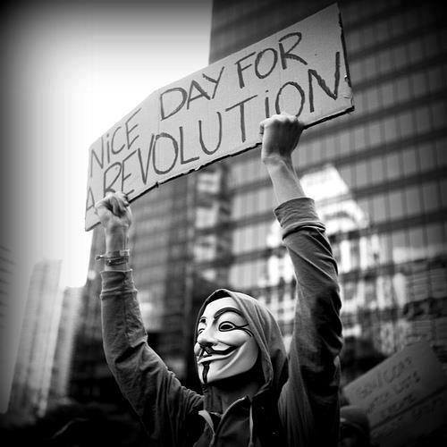 Nice Day for a Revolution from Anonymous Montreal on Facebook