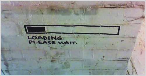 IRL Loading Please Wait Street Art