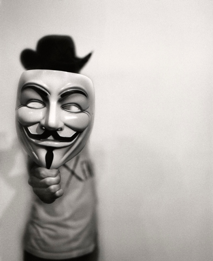 Anonymous with Hat  by Jacob Davis on Flickr