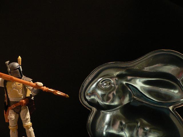 Boba Fett vs the Cyber Bunny by lamont_cranston on Flickr