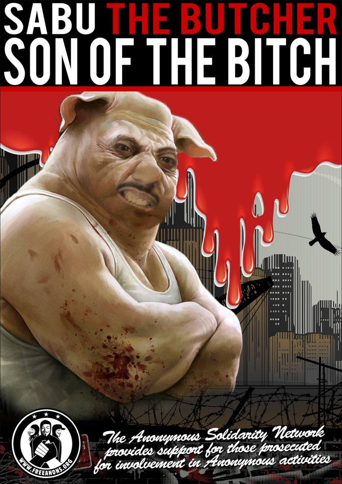 Sabu the Butcher, Son of the Bitch from FreeAnons