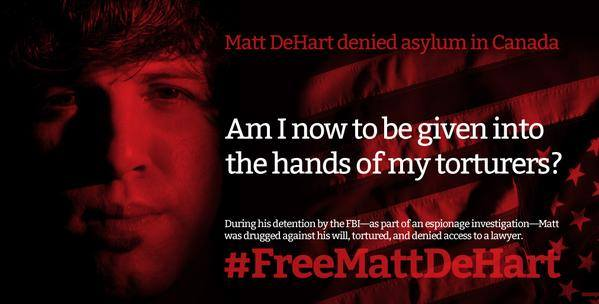 Am I now to be given into the hands of my torturers? via Free Matt DeHart on Facebook