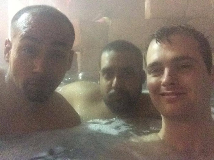 Sabu Hector Monsegur and Dan Stuckey hot tubbing