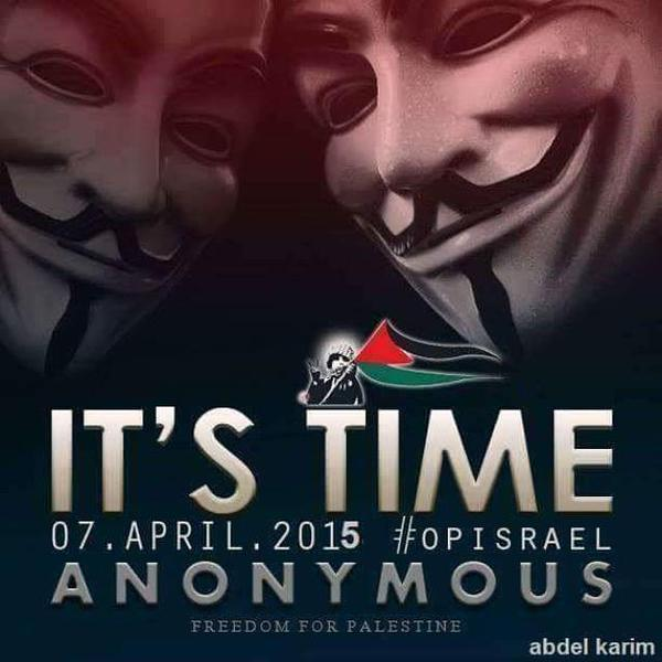 OpIsrael Anons via @Op_Israel on Twitter