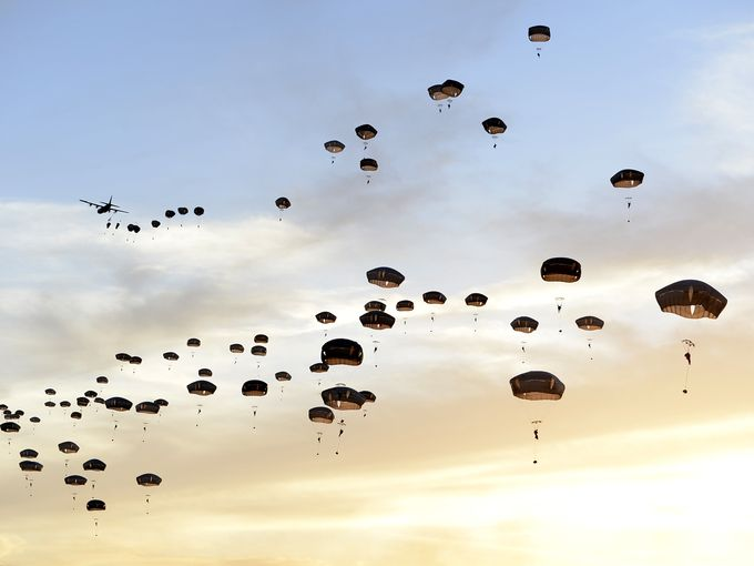 Paratroopers at Holland Drop Zone by Staff Sgt Sean Martin of the USAF