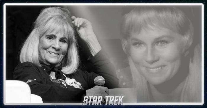 RIP Grace Lee Whitney aka Yeoman Janice Rand on Star Trek. Image via Star Trek on Facebook