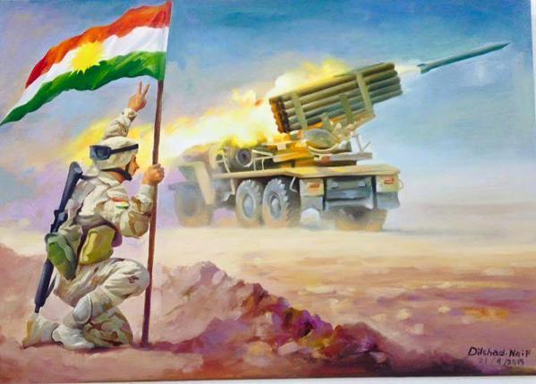 Peshmerga propaganda painting
