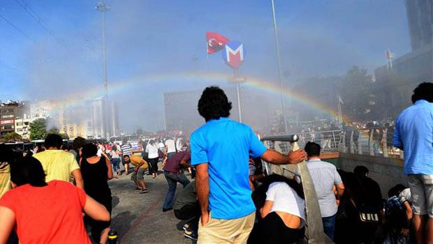 Police in Turkey try to stop Pride parade with water cannons, accidentally creates rainbows - Imgur