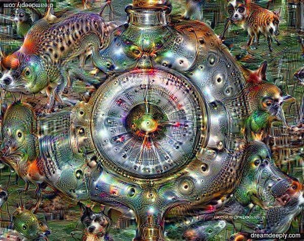 GCHQ Headquarters run through Deepdream by Tony Clenaghan on Facebook