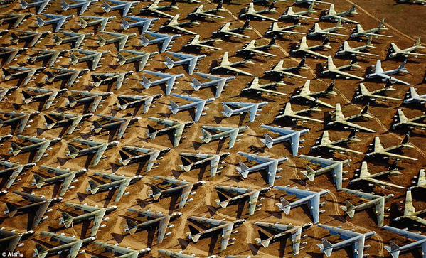 B52 Bomber Boneyard via Abandoned on Twitter
