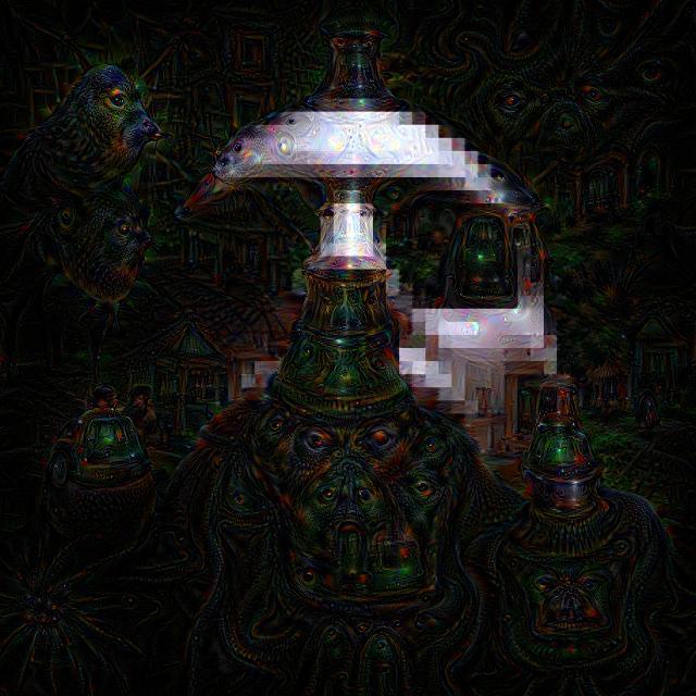 Deepdream darkness via Google Deepdream Labs