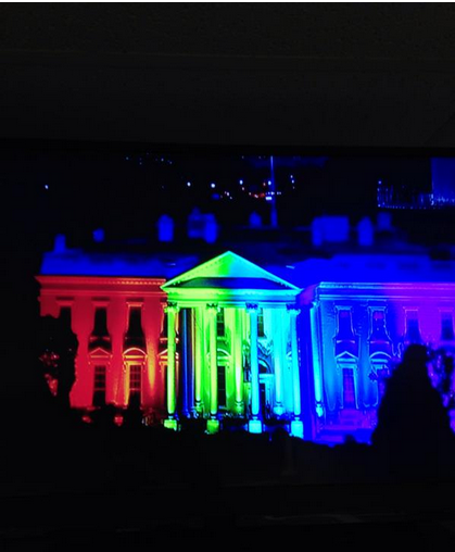 White House Rainbow by Nate Fluharty on Twitter