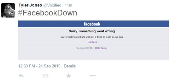 Tyler L. Jones on #FacebookDown on Facebook