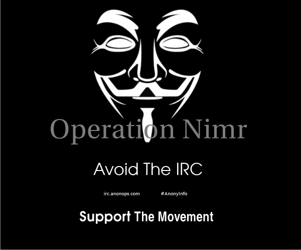 OpNimr via AnonyInfo on Twitter