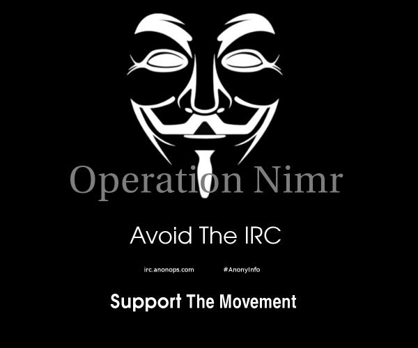 OpNimr via AnonyInfo on Twitter