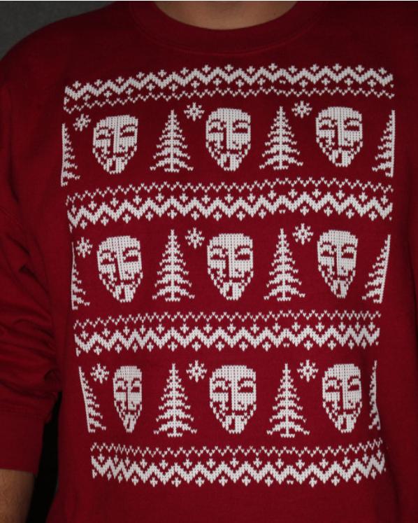 Anonymous Christmas sweatshirt