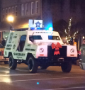 Ho Ho Holy Shit! Small town Virginia Sheriff's Department has mine-resistant APC's, total confidence in their masculinity thank you for asking. Photo by Mike Still