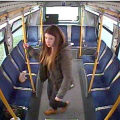 Alleged kitten-napper and alleged kitten pictured on Langley bus