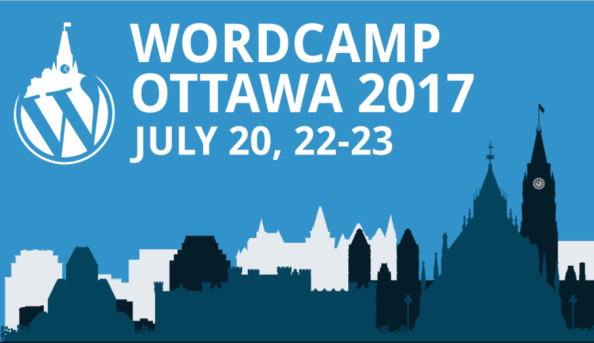 WordCamp Ottawa is on! Well, it's on the 20th, 22nd, and 23rd of July!
