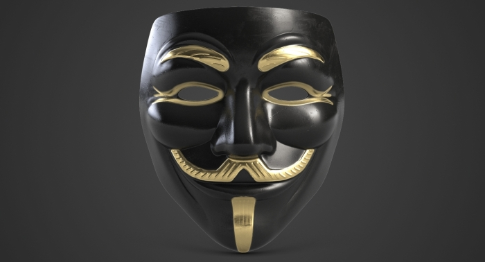 black fawkes mask